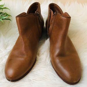 Sam Edelman Brown Leather Petty Bootie